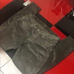 7 for all mankind skinny velvet pants, 28